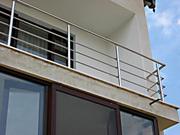 Ограждение балконов, террасс из нержавеющей стали.