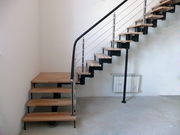 Металлические лестницы винтовые прямые угловые