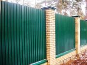 Забор,  ворота из профнастила. Купить недорого в Одессе